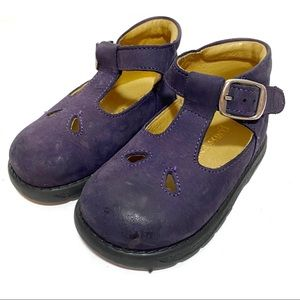 Lands' End Purple Leather Baby Mary Jane Shoe